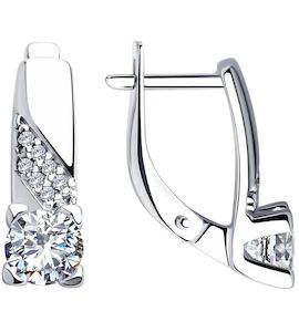 Серьги из серебра со Swarovski Zirconia 89020120