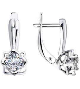 Серьги из серебра со Swarovski Zirconia 89020124