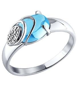 Серебряное кольцо лаконичной формы 92010723