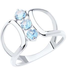 Кольцо из серебра с топазами 92011922