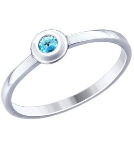 Кольцо из серебра с фианитом 94012792