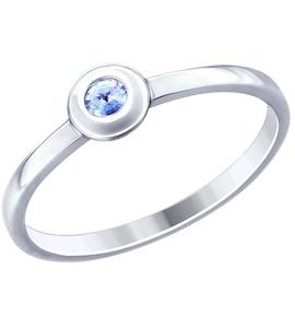 Кольцо из серебра с фианитом 94012794