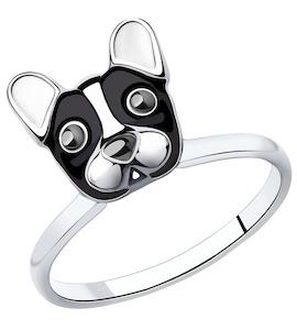 Кольцо из серебра с эмалью 94012998