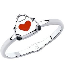 Кольцо из серебра с эмалью 94013010