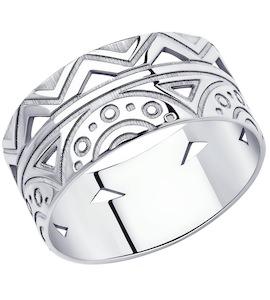Кольцо из серебра 94013101