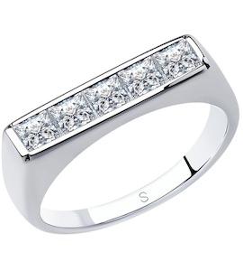 Кольцо из серебра с фианитами 94013103