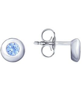 Серьги из серебра с фианитами 94023173