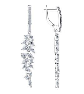 Серьги из серебра с фианитами 94023587