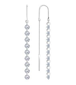 Серьги из серебра с фианитами 94023999