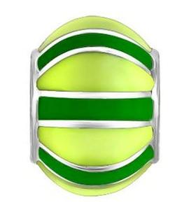 Подвеска-шарм с зелёной эмалью 94031066