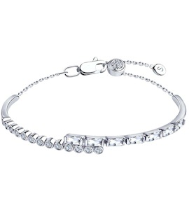 Браслет из серебра с фианитами 94050535