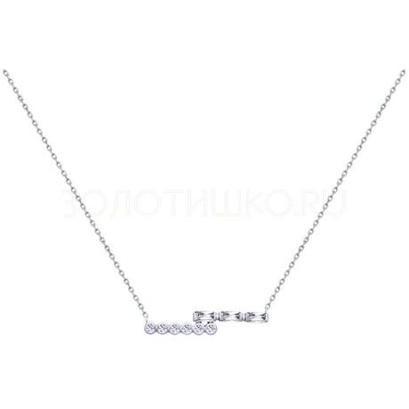 Колье из серебра с фианитами 94070138