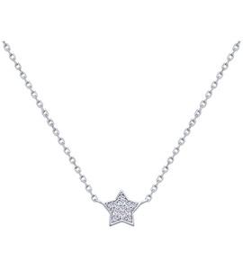 Серебряное колье «Звёздочка» с фианитами 94070158