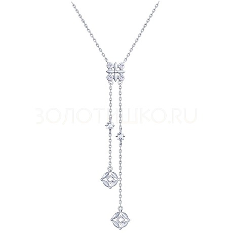 Колье из серебра с фианитами 94070196