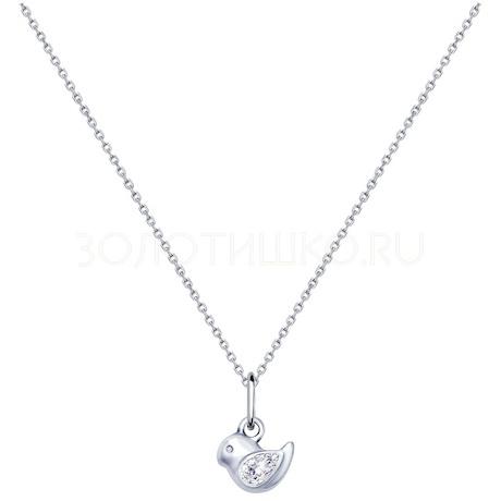 Колье из серебра с фианитом 94070220