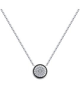 Колье из серебра с эмалью и фианитами 94070266