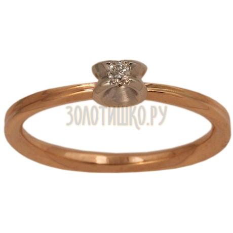 Золотое кольцо с бриллиантом 1_00245