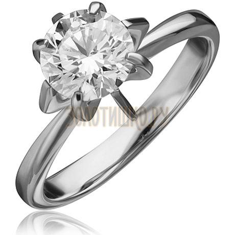 Кольцо из белого золота с бриллиантом 1_00658