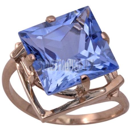 Кольцо из белого золота с топазом 1_00702