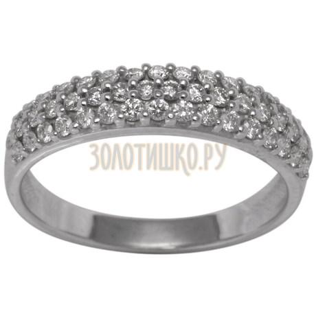 Обручальное кольцо из белого золота с бриллиантами 1_00872