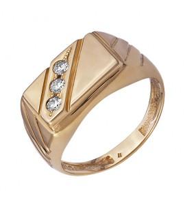 Золотое мужское кольцо с бриллиантами