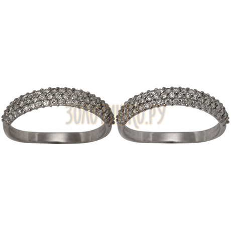 Кольцо из белого золота с бриллиантами 1_00935