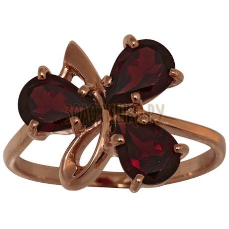 Золотое кольцо с гранатом 1_01109