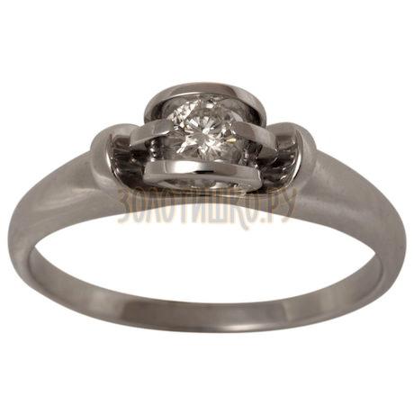 Золотое кольцо с бриллиантом 1_01183