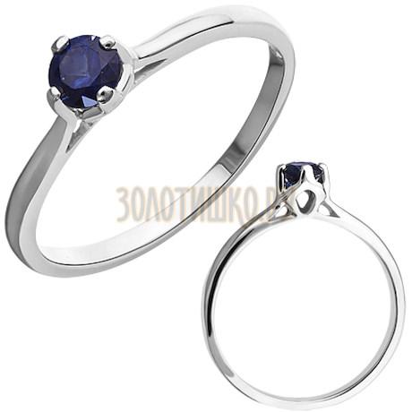 Кольцо из белого золота с сапфиром 1_01215