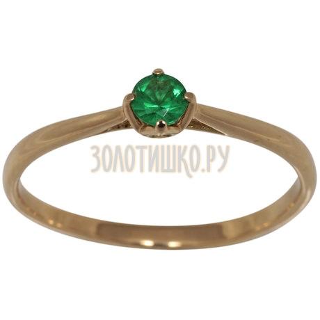 Золотое кольцо с изумрудом 1_01223