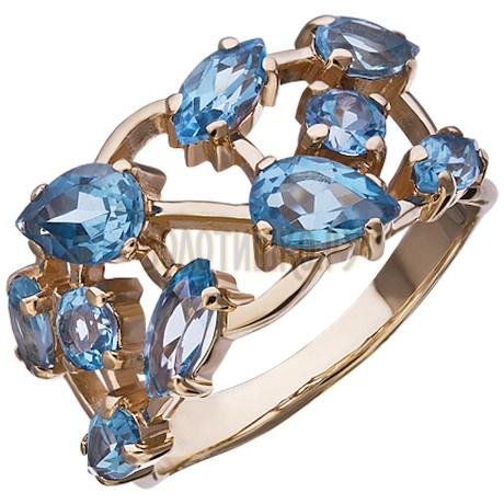 Золотое кольцо с топазом 1_01429