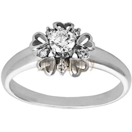 Кольцо из белого золота с бриллиантами 1_01650