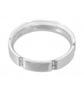 Мужское кольцо из белого золота с бриллиантом (n)