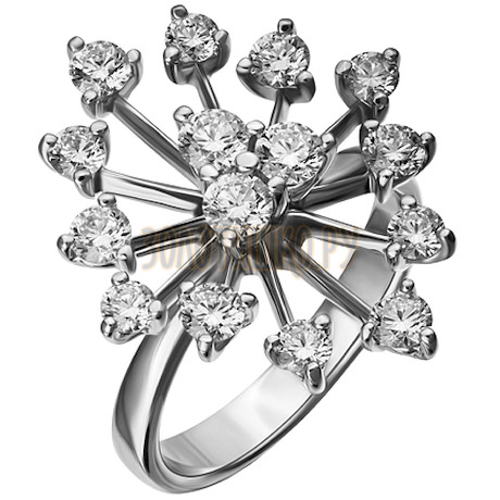 Кольцо из белого золота с бриллиантами 1_01956