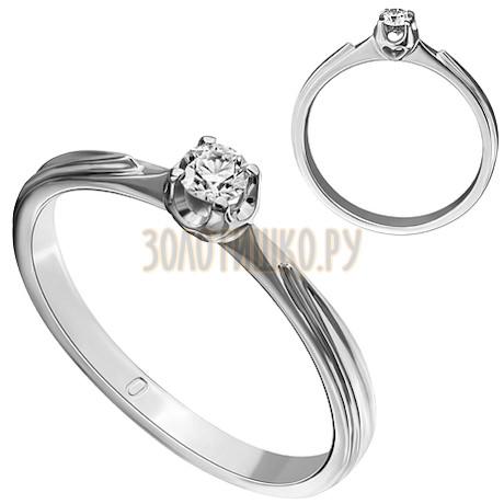 Кольцо из белого золота с бриллиантом 1_02050