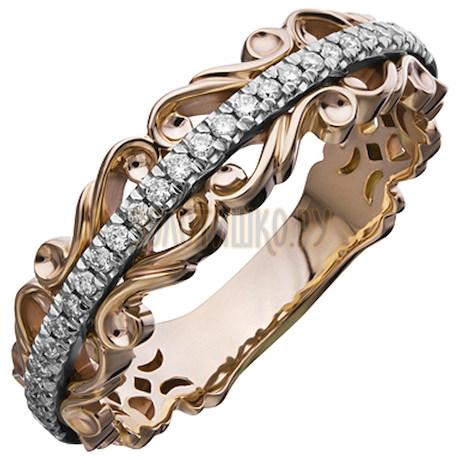 Золотое обручальное кольцо с бриллиантами 1_02160