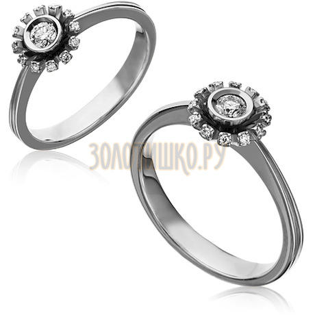 Кольцо из белого золота с бриллиантами 1_02271