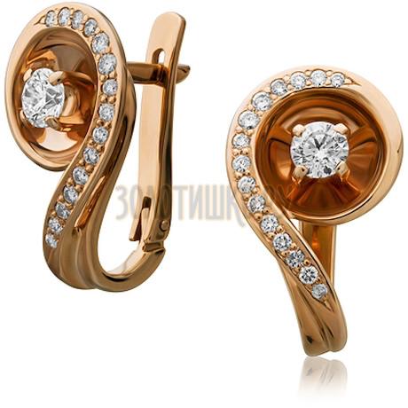 Золотые серьги с бриллиантами 2_00436