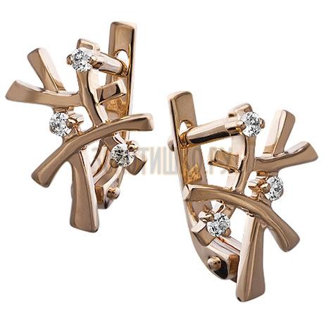 Золотые серьги с бриллиантами 2_00624