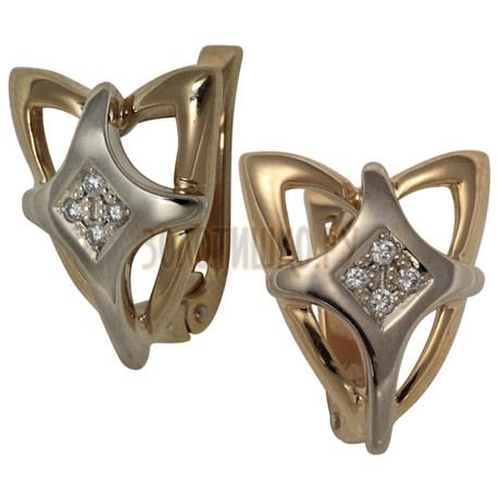 Золотые серьги с бриллиантами 2_00917
