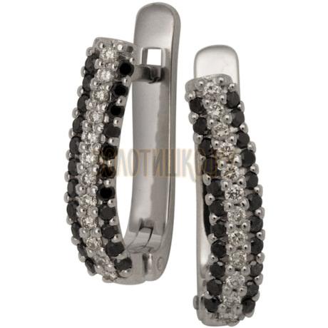 Серьги из белого золота с бриллиантами 2_00935