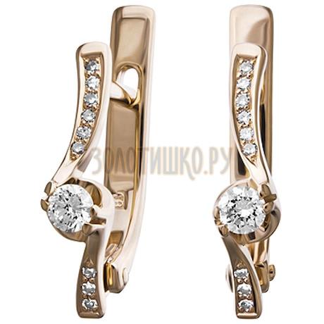 Золотые серьги с бриллиантами 2_01222