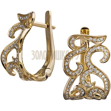 Золотые серьги с бриллиантами 2_01838