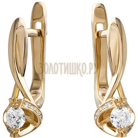 Золотые серьги с бриллиантами 2_02021