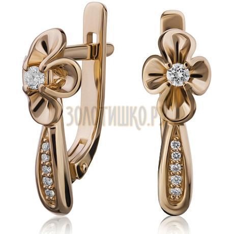 Золотые серьги с бриллиантами 2_02283