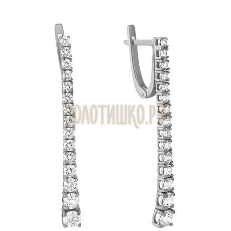 Серьги из белого золота с бриллиантами 2_03006